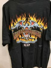 2004 Street Vibrations Reno Nevada Motorcycles Music Graphic T Shirt Size XL
