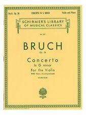 Max Bruch Violin Concerto No.1 In G Minor Op.26 Violin Piano Violin MUSIC BOOK
