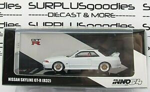 INNO64 1:64 2021 Release White NISSAN SKYLINE GT-R (R32) w/Extra Wheels & Decals