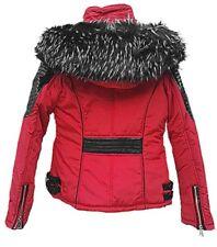 Manteau Doudoune courte Femme à Capuche fourrure veste d'hiver S-XXL XQ-026
