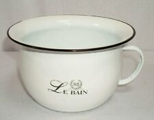 Enamel Pee Pot IN Nostalgia Style, Chamber Pot, Pisspott White Black