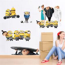 Adesivo parete 3d Minions muro porta Cattivissimo Me camera bambini Wall Sticker