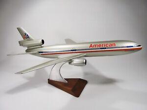 "Vintage American Airlines Model Airplane DC 10 Luxury Liner Desk Model 21+"""