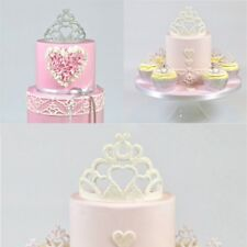 Princess Crown Silicone Fondant Mold Cake Decor Chocolate Sugarcraft Mould 2Pcs