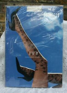 Vintage Wolford Ivy Patterned Tights Large 18310 1051 Ecrue