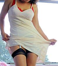 VTG Lorraine Ivory Smooth Soft Nylon Simple Classic Full Slip Dress sz 34