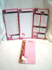 Sanrio Hello Kitty 4 Magnetic Note Pads, Shopping List, To Do List, Assignments