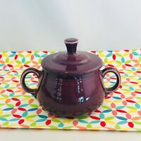 Fiestaware Heather Small Sugar Bowl with Lid Fiesta Retired Purple