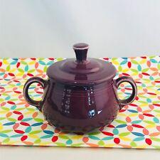 Fiestaware Heather Small Sugar Bowl with Lid Fiesta RetiredPurple