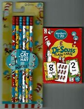 DR SUESS  EDUCATIONAL FLASH CARDS  & THE CAT IN THE HAT PENCILS SET