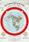 Flat Earth Map 23'x32' LARGE 1892 Alexander Gleason New Standard Map the World
