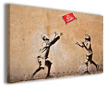 Quadri famosi Banksy XV stampe riproduzioni su tela copia falso d'autore