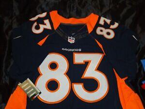 Denver Broncos Wes Welker Mens 40 Medium Nike Jersey Navy Blue Home