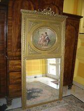 Magnifique grand miroir Trumeau d'époque Fin 19eme De Style Louis 16 Doré