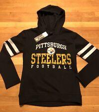 Pittsburgh Steelers Hoodie Womens Juniors Size Medium 7/9 Nwt Black