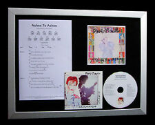 DAVID BOWIE Ashes To Ashes LTD Nod QUALITY MUSIC FRAMED DISPLAY+FAST GLOBAL SHIP