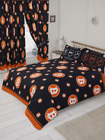 Orange And Black Bitcoin Theme Double Duvet Cover Bedding Set
