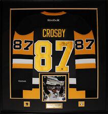 Sidney Crosby Pittsburgh Penguins signed vintage jersey frame