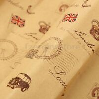 Strong Wrapping Kraft Paper Wrap Gift Wrap Double Sided 745x520mm Vintage Retro