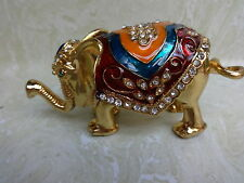 Elephant Figurine Alloy with a brass finish Brand New Free Shipping
