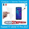 Coque Gel +Vitre Protection écran Verre Trempe Huawei Y7 2019
