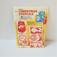 Vintage 32 Large Paper Frosty Christmas Stencils for Mirrors & Windows NEW