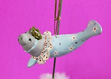 Patience Brewster Krinkles Mabel Manatee Mini Christmas Ornament 08-30960