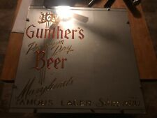 Gunther's beer mirror Baltimore Maryland