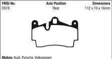 EBC Yellowstuff Ultra High Friction Pad Set Rear for 14-07 Q7 / 03-19 Touareg