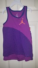 Nike Air Jordan Little Girls 2pc shirt & short outfit set, Size 6  NWT