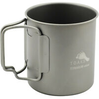 TOAKS Titanium Lightweight 450ml Double Wall Cup CUP-450-DW - Outdoor Camping