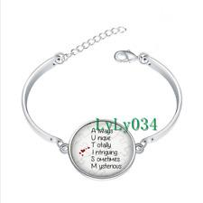 AUTISM Definition glass cabochon Tibet silver bangle bracelets Fashion