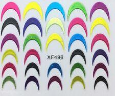 Accessoire ongles nail art , Stickers décalcomanie , motifs frenchs colorées