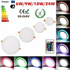 White RGB Dual Color LED Light LED Ceiling Recessed Panel Downlight Spot Lamp AC
