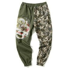 Men's Embroidered Harem Pants Saggy Elasticated Waist Retro style Trousers New L
