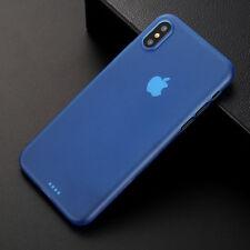 iPhone X 8 Plus 7 6S 5S Ultra Slim Case Schutz Hülle Transparent Hard Cover Matt