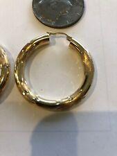 """14 Kt Yellow Gold Hoop Earrings 1 1/2"""""""