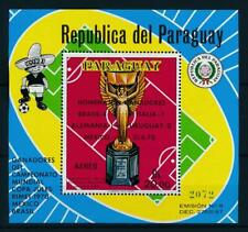 [105578] Paraguay 1970 World cup soccer football Mexico Souv. Sheet w/ OVP MNH