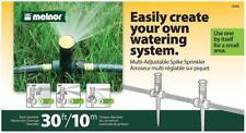 Melnor 15335 Multi-Adjustable Spike Sprinkler, Green 30 ft Water Flow Control
