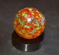 """Unidentified Collectors Handblown Glass Guinea Marble, Shooter Size .953"""" MINT!"""