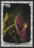 2018 Marvel Masterpieces Holofoil Speckle Insert Card #1 Vision 25/99