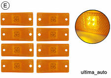 8 pièces 12V 24V LED feu de position phares lampes Remorque Caravane Van