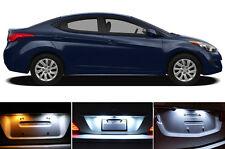 Xenon White License Plate / Tag 168 194 LED light bulb for Hyundai Elantra 2Pcs