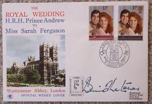 FDC Signed Dennis Thatcher, RARE, Royal Wedding HRH Prince Andrew, 23 Jul 86