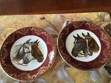 Weatherby England Royal Falcon Ware Horse Plates Set of 2 - Small - Rare