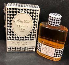 Vintage eau de toilette MISS DIOR by CHRISTIAN DIOR Paris 54ml Unused in box NOS