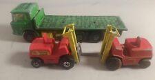 MATCHBOX SUPERKINGS K-13/20 DAF Flatbed Truck-MATCHBOX DAF Camion Verde