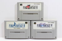 Lot of 3 Final Fantasy IV V VI 4 5 6 SFC Super Famicom SNES Japan Import I6702