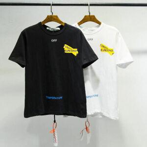 OFF White Men's Short Sleeve Yellow Cordon Arrow Print T-Shirt Tee In USA Stock