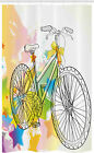 Sketchy Stall Shower Curtain Abtract Colorful Bike
